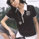 Cotton Top - Black with collar