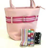 Pink Bucket Bag w Ribbon Belt