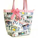 License Plate Purse Pink Ribbon