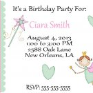 10 Sweet Little Fairy Princess - Birthday Invitations