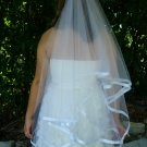 Ribbon edge veil 72X72