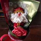 Red Single Santa Claus Bouquet, Bear Bouquet, Best Christmas Gift