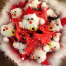 Nine Red Santa Claus Christmas Bouquet, Best Christmas Gift