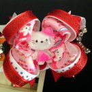 Hello Kitty Boutique Hair Bow-Four Inch Stacked Hair Bow