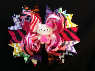 Hello Kitty Hair Bow, Chevron & Zebra Hair Bow, Stacked Hair Bow