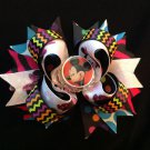 Disney-Minnie Mouse Hair Bow, Halloween Hair Bow, Colorful Stacked Hair Bow