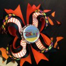 Disney Hair Bow, Halloween Hair Bow, Stacked Hair Bow