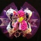 Beauty purple Pony Hair Bow, My Little Pony Hair Bow, Satcked Hair Bow