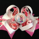 Frozen Queen-Elsa & Anna Hair Bow, Pink Rose Hair Bow