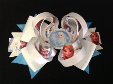 Frozen Elsa Hair Bow, Frozen Two Sisters Hair Bow, Frozen Stacked Hair Bow