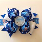 Blue Frozen Sacked Hair Bow, Frozen Queen Hair Bow, Elsa & Anna Hair Bow, Frozen Olaf Hair Bow