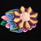 Kanzashi Flower Clip, Ceramic Flower, Ribbon Flower Clip