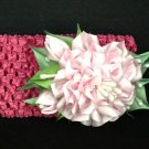 Fanzashi Flower Headband, Ribbon Flower Headband