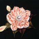Kanzashi Flower Clip, Tsumami Kanzashi, Ribbon Flowe Clip
