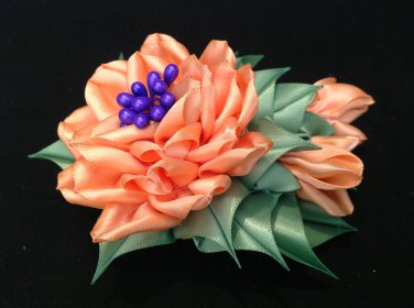Tsumami Kanzashi Flower, Ribbon Flower Clip