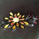 Kanzashi Flower Barrette, Tsumami Kanzashi Ribbon Flower Barrette