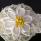 Kanzashi Flower Headband, Ribbon Flower Headband, Girls Flower Headband
