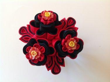Kanzashi Flower Clip, tgsumami Kanzashi, Resin Flower Clip