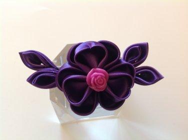 Kanzashi Flower Clip, Tsumami Kanzashi, Ribbon Flower Clip