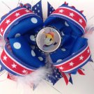 4th July Stacked Hair Bow, Donald Duck Hair Bow