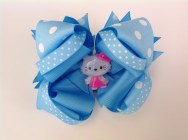 Hello Kitty, Blue Stacked Hair Bow
