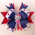 Hello Kitty, 4th July Stacked Hair Bow