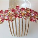 Pink Flower Boutique Alloy Rhinestone Comb