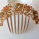 Champagne Rose Boutique Alloy Rhinestone Comb