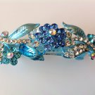 Blue Flower Boutique Alloy Rhinestone Crystal Barrette
