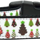 Christmas Trees Nylon collar