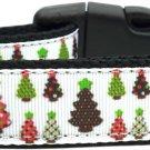 Christmas Trees Nylon collar