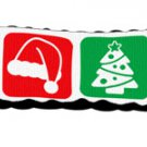 Christmas Nylon Ribbon Leash 1 inch wide