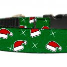 Santa Hat Nylon and Ribbon dog collars