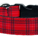 Plaid Nylon Collar Red