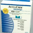 100 Accu-Chek Advantage/Sensor Comfort Diabetic Test Strips Expiry 08/2014
