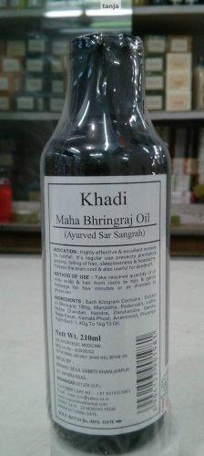 Khadi Ayurveda Maha Bhringraj Oil for Sleep Disorder, Hair Fall & Dandruff