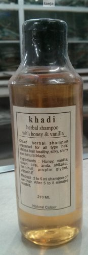 Khadi Herbal Shampoo with Vanilla,Honey & Amla - 1 X 210 ML/ 7fl. Oz -From India