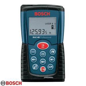 Original & Brand New BOSCH DLE 40 LASER RANGE FINDER 40MTR with Case & Batteries
