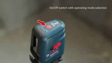 Bosch GLL 3X Crossline Laser Alignment Tool -Cross Line + Vertical Line