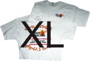 White T-shirt. X-Large
