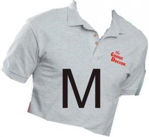 Grout Doctor Sport Shirt Ash Size Medium