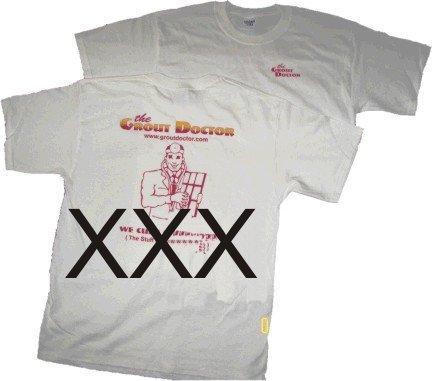 White T shirt XXX Old Design