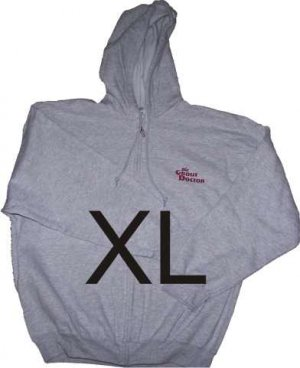 Zippered Hooded Sweatshirt X-Large