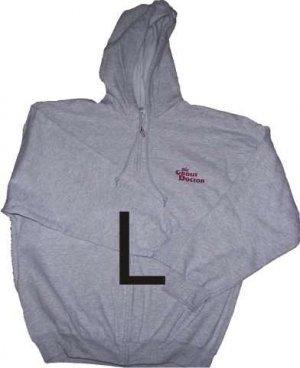 Zippered Hooded Sweatshirt Large