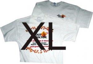 Extra long White T X-Large