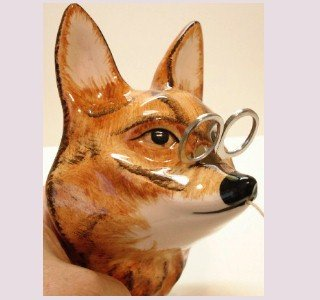 String Holder - Wonderful Fox by Babbacombe Pottery of England - Stringholder