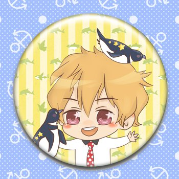 Nagisa_fanart pinback button