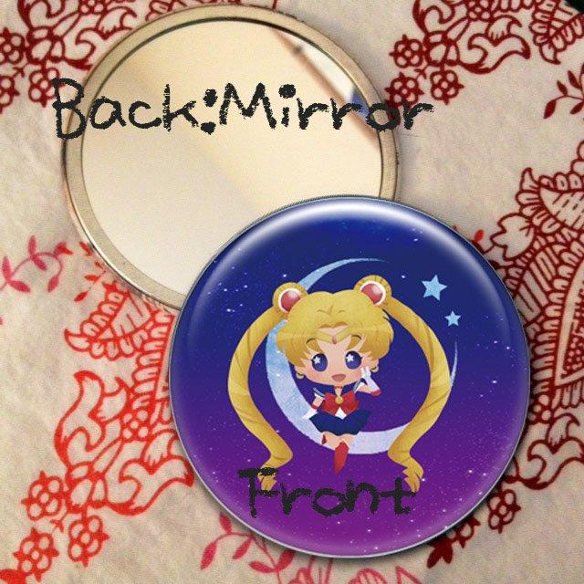 Round hand mirror (Sailor Moon fan art)