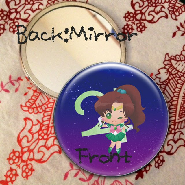 Round hand mirror (Sailor Jupiter fan art)