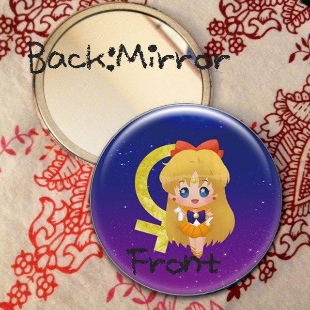 Round hand mirror (Sailor Venus fan art)